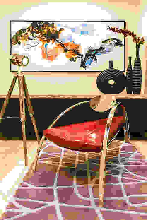 Lobby Close-up Modern living room by Studio An-V-Thot Architects Pvt. Ltd. Modern