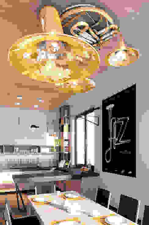 Projekt wnętrz mieszkania w Gdańsku, 90mkw Nowoczesny salon od Marta Koniczuk Pracownia Architektury Wnętrz Nowoczesny