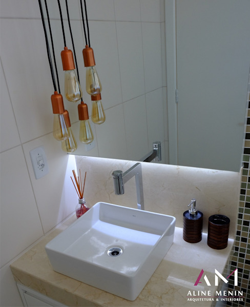 Aline Menin Arquitetura BathroomMirrors
