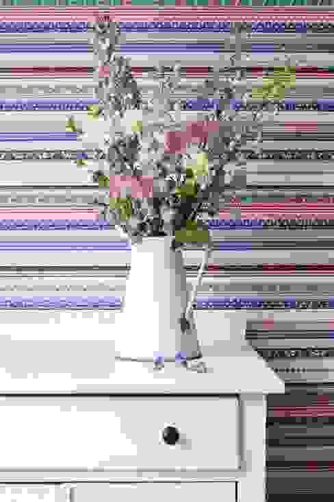 Papel pintado patchwork rayas vintage de Papel pintado para paredes Gaulan Moderno