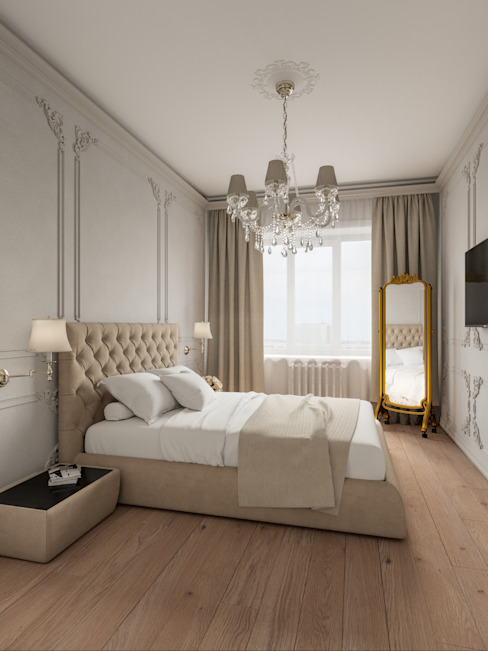 Дизайн-студия 'Вердиз' Dormitorios de estilo clásico