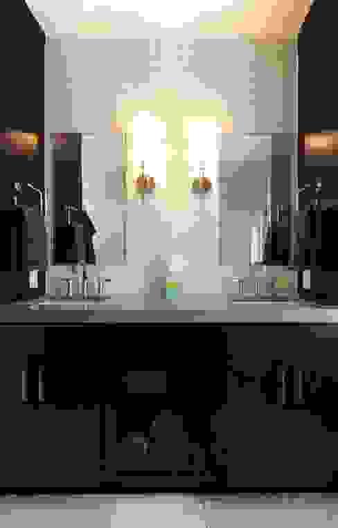 Modern Guest Bath Olamar Interiors, LLC Modern bathroom Tiles White
