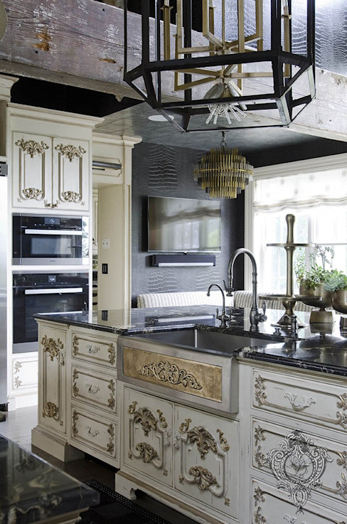 Kitchen Island by Kellie Burke Interiors Eclectic