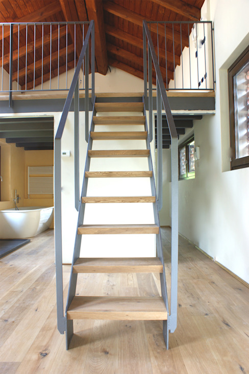 Corredores, halls e escadas campestres por Studio Ecoarch Campestre