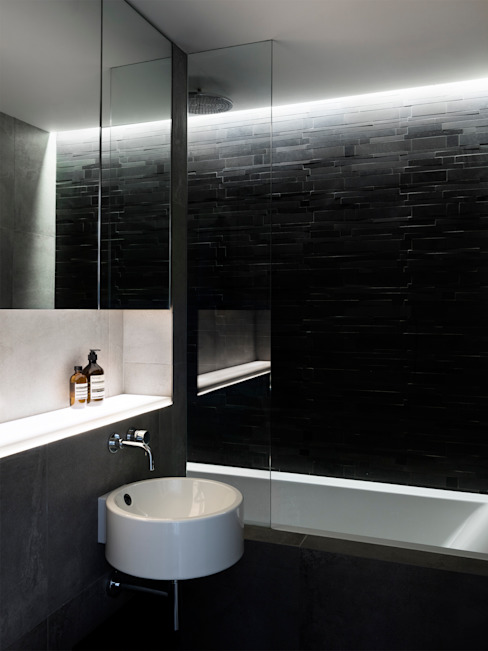 Bathroom by Brosh Architects, Modern
