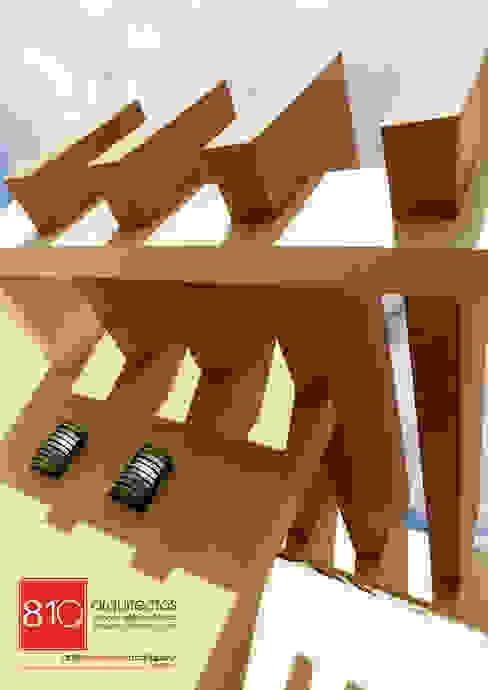 Casa Habitación. Ignacio, Alma Gutiérrez Balcones y terrazas de estilo moderno de 810 Arquitectos Moderno