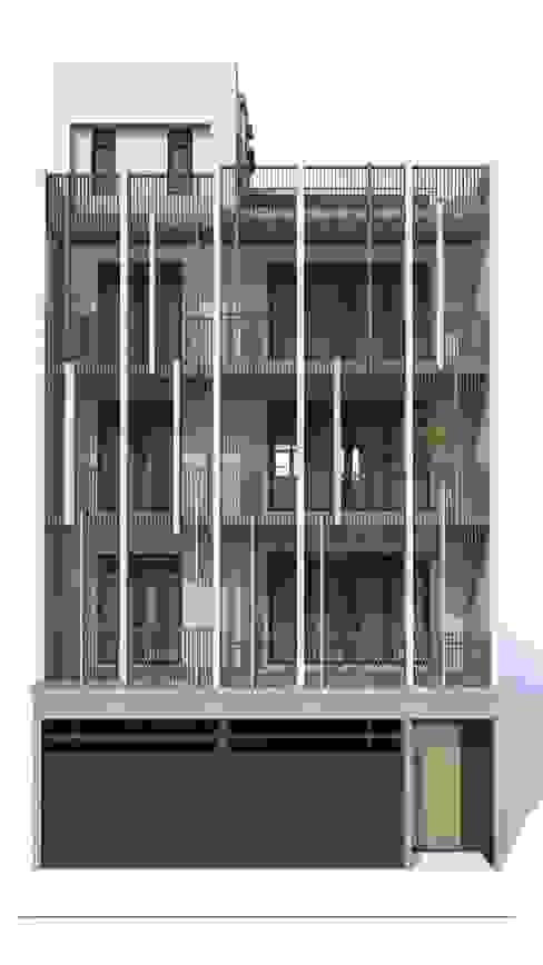 House D 鄧宅 現代房屋設計點子、靈感 & 圖片 根據 構築設計 現代風