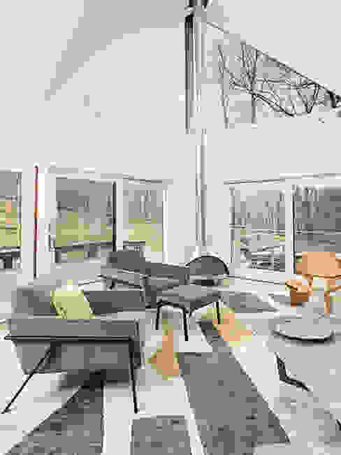 Dutchess County Residence, Amenia, NY Modern Living Room by BILLINKOFF ARCHITECTURE PLLC Modern