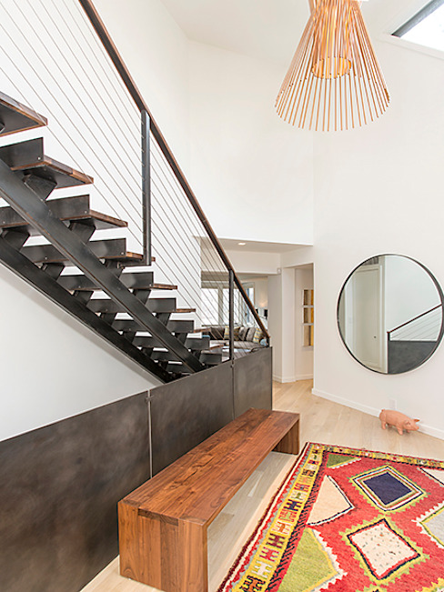 Dutchess County Residence, Amenia, NY Modern Corridor, Hallway and Staircase by BILLINKOFF ARCHITECTURE PLLC Modern