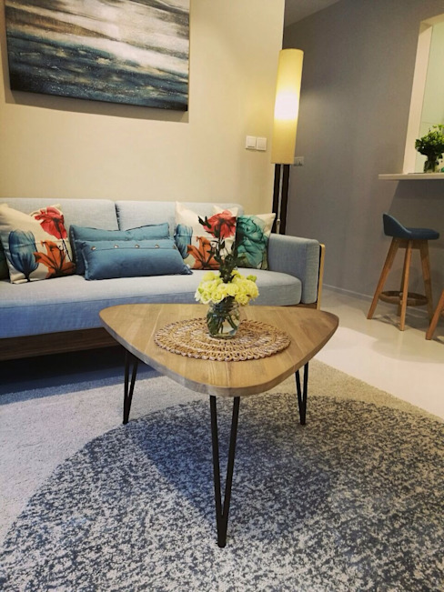Project @ The Bently Residences ab1 Abode Pte Ltd Scandinavian style living room