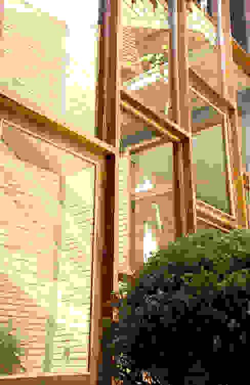 Nhà kính phong cách mộc mạc bởi JMN arquitetura Mộc mạc Gỗ Wood effect