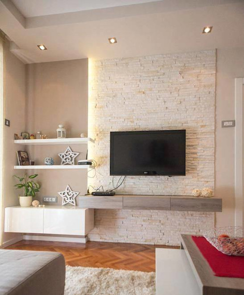 MONTVERT FINESSE BANER PUNE Asian style living room by decormyplace Asian