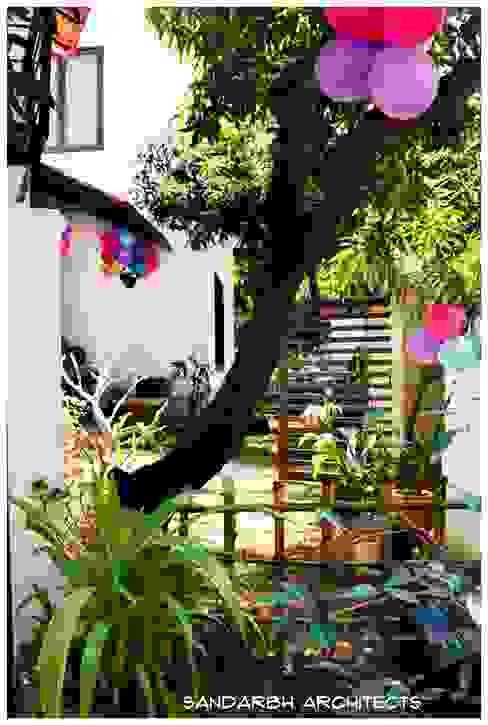 Sharada Eclectic style garden by Sandarbh Design Studio Eclectic