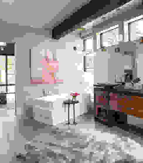 Contemporary Mountain Chalet Andrea Schumacher Interiors Modern Bathroom