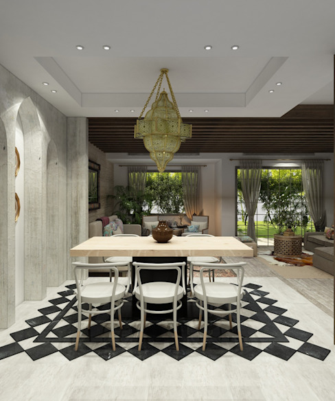 Residential Project Eclectic style dining room by ICONIC DESIGN STUDIO Eclectic