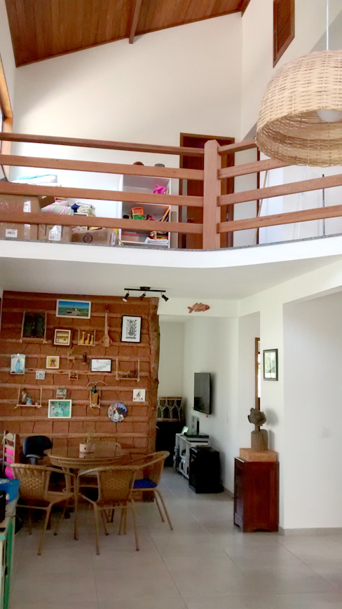 Phòng khách phong cách mộc mạc bởi Oca Bio Arquitetura e Design Mộc mạc