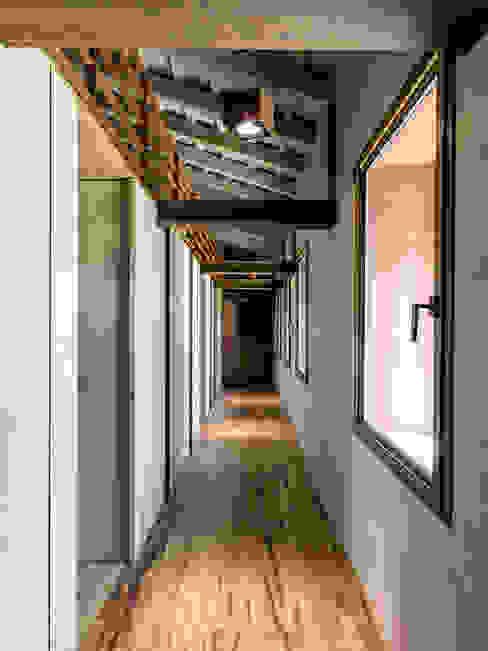 Hành lang, sảnh & cầu thang phong cách hiện đại bởi zanon architetti associati Hiện đại