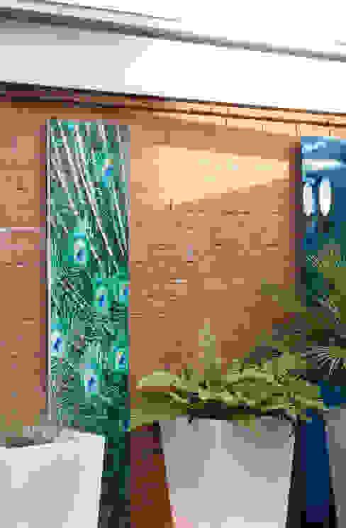 Outdoor Peacock Canvas Earth Designs Modern garden Blue