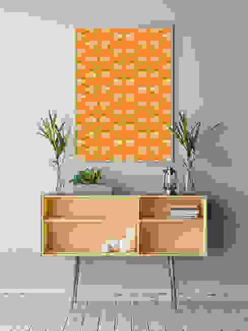 OSTRICH Wallpaper - Orange: modern  von homify,Modern Papier