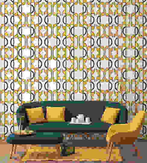 OTORO Wallpaper - Yellow de homify Moderno Papel