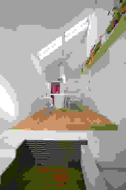 スキップフロアの家/白金台(愛犬家住宅) 前田敦計画工房 モダンデザインの リビング