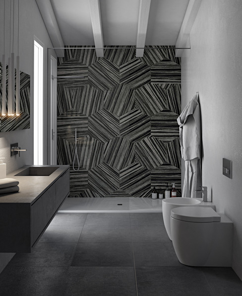Salle de bains de style  par Pitzus Group Costruzioni S.r.l., Moderne