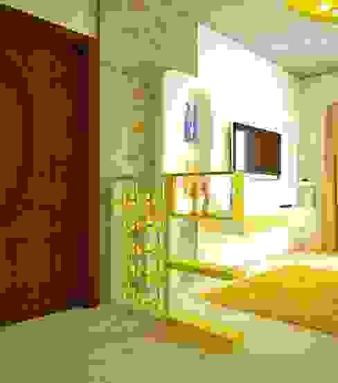 SJR Watermark, 3 BHK - Mr. Ankit Modern living room by DECOR DREAMS Modern