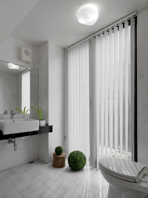 Minimalist style bathroom by 三石設計工程行 Minimalist