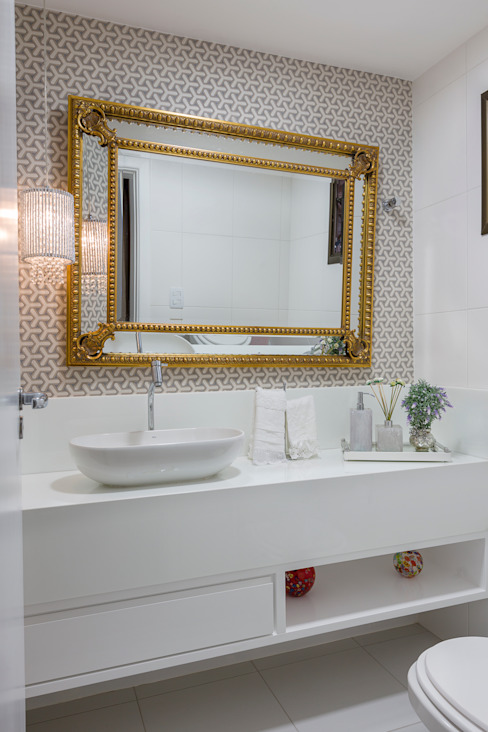 Lavabo Banheiros modernos por DM ARQUITETURA E ENGENHARIA Moderno