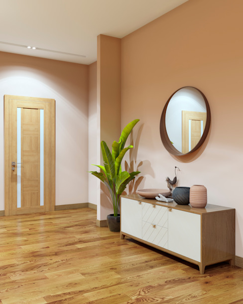 Pasillos, vestíbulos y escaleras de estilo minimalista de homify Minimalista Madera Acabado en madera