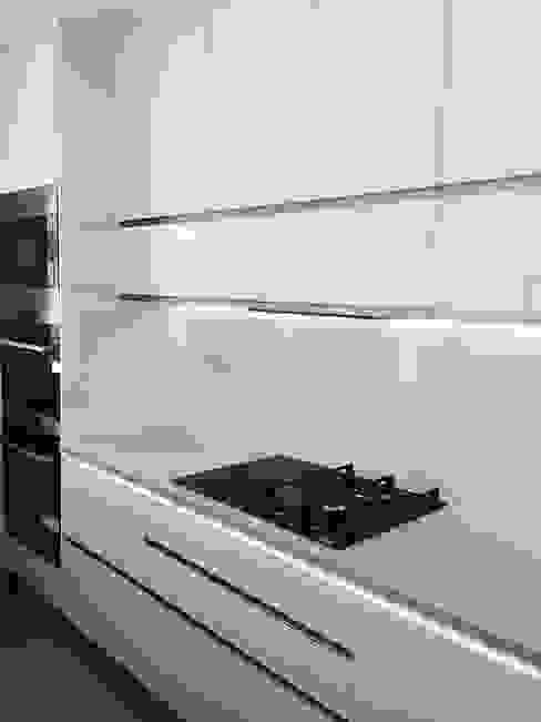 Kitchen DOCE White DECORAÇÃO MODERNA Cozinhas modernas Aglomerado Branco