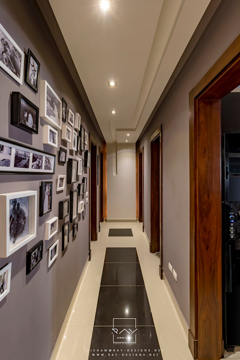 Mr.H.B. FLAT INTERIOR DESIGN ,MADINATY RayDesigns Modern corridor, hallway & stairs