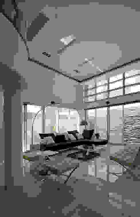 台南12號住宅 现代客厅設計點子、靈感 & 圖片 根據 築青室內裝修有限公司 現代風