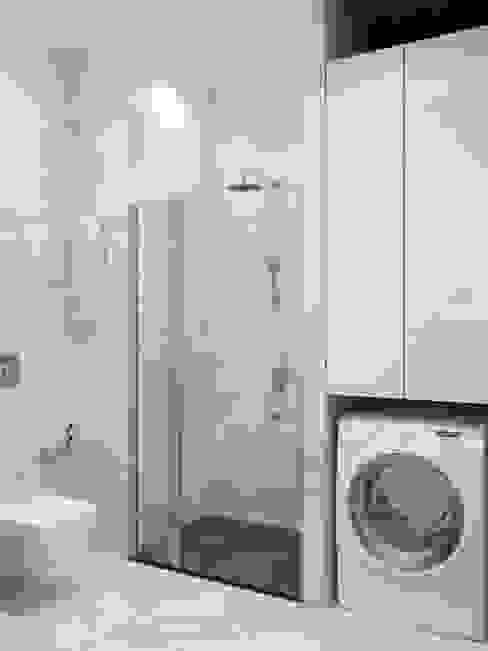 Душевая зона Ванная комната в стиле минимализм от Ёрумдизайн Минимализм Мрамор