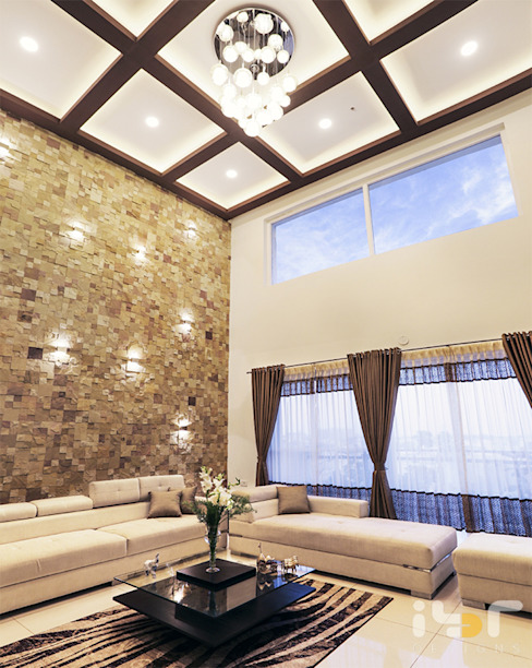 Living area Modern living room by Interiors by ranjani Modern