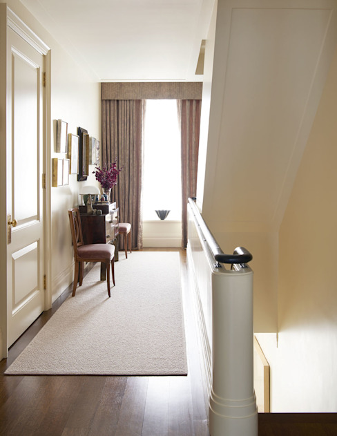 West Village Townhouse Classic style corridor, hallway and stairs by andretchelistcheffarchitects Classic
