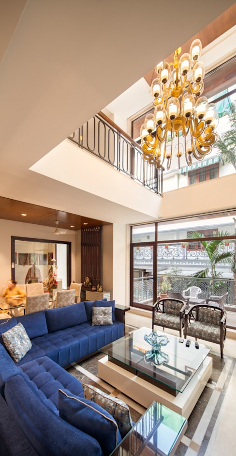 Gujral Residence Modern living room by groupDCA Modern