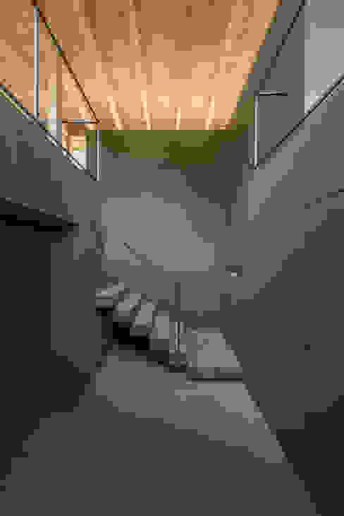 エントランスホール モダンスタイルの 玄関&廊下&階段 の 武藤圭太郎建築設計事務所 モダン コンクリート