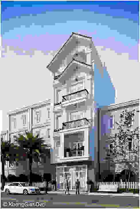 Casas unifamiliares de estilo  por Công ty cổ phần đầu tư xây dựng Không Gian Đẹp ,