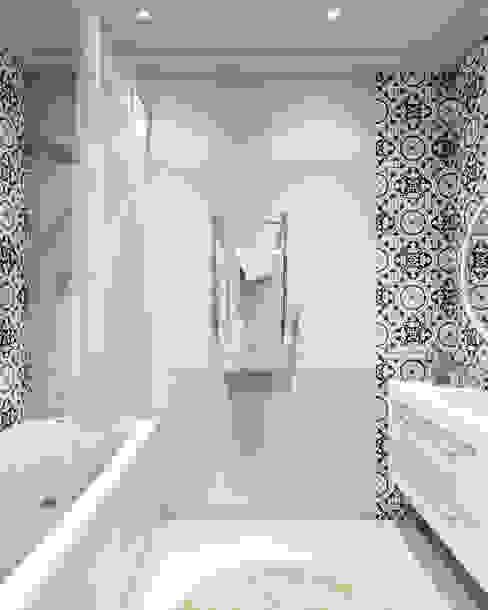 Phòng tắm phong cách Bắc Âu bởi homify Bắc Âu
