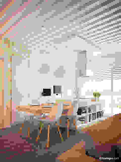 Cocinas de estilo moderno de Marlegno Moderno Madera Acabado en madera