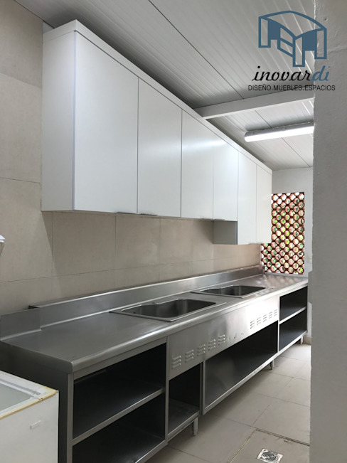 Cocina y Campana Inovardi Cocinas equipadas Madera Blanco