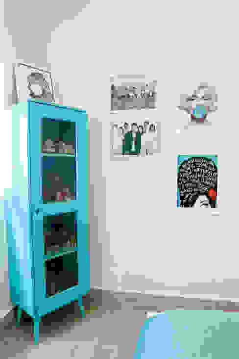 Suíte menina Haus Brasil Arquitetura e Interiores Quartos rústicos Azul