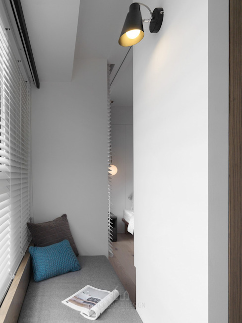 Quartos modernos por Ho.space design 和薪室內裝修設計有限公司 Moderno
