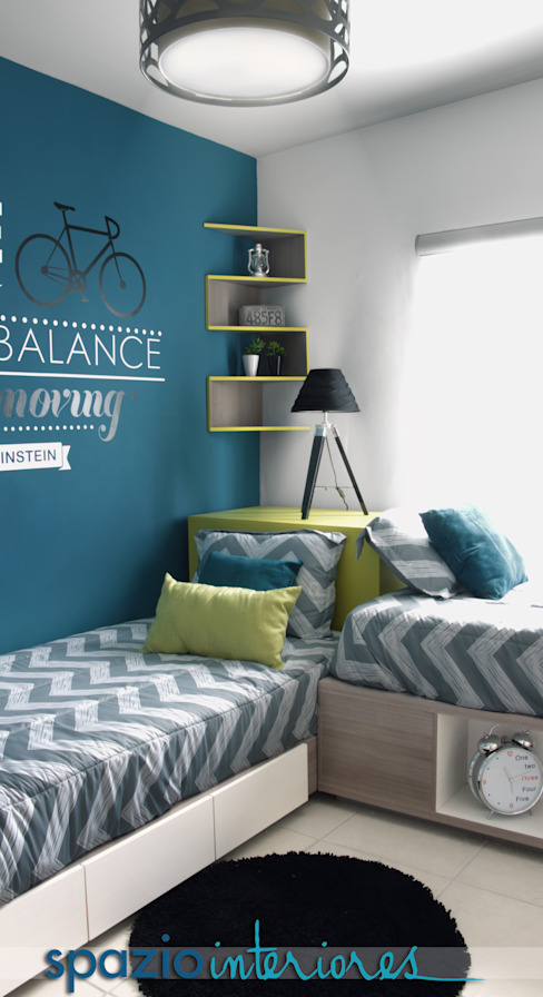 Diseño de interiores, casa muestra MANTER Dormitorios infantiles modernos de spazio interiores Moderno