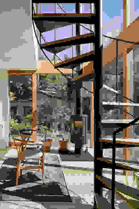 吹抜 atelier137 ARCHITECTURAL DESIGN OFFICE 北欧スタイルの 温室 ガラス 透明