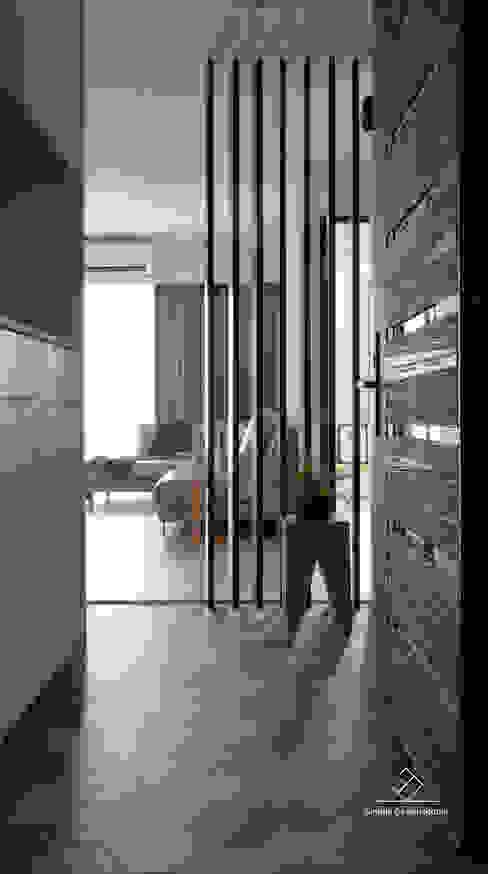 玄關 Scandinavian style corridor, hallway& stairs by 極簡室內設計 Simple Design Studio Scandinavian