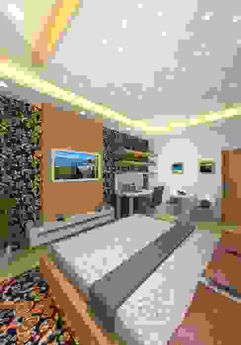 Prashant Residence Modern Bedroom by Gurooji Designs Modern