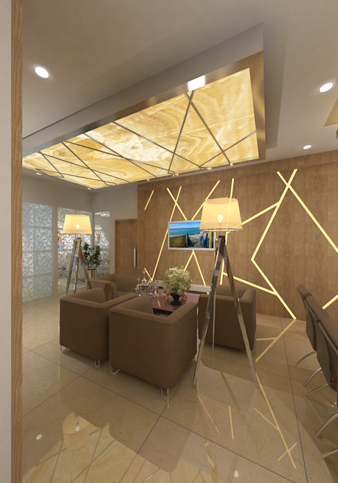 Prashant Residence Modern Living Room by Gurooji Designs Modern