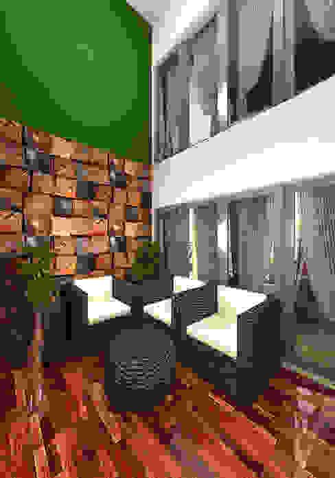 Prashant Residence Modern Terrace by Gurooji Designs Modern